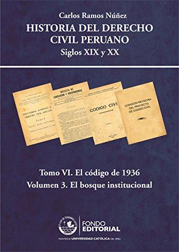Historia del derecho civil peruano: Tomo VI. El Código de 1936. Volumen 3: El bosque institucional