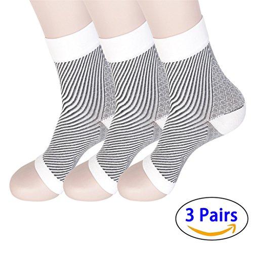 hmilydyk Plantarfasziitis Socken mit Arch Support–Foot Care Kompression Sleeve für Ankle Brace Unterstützung, lindert Schwellungen & Fersensporn (3Paar) (Erholsamen Bein-unterstützung)