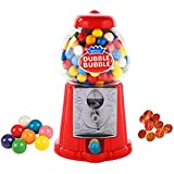 """Playo 8.5"""" Coin Operated Gumball Machine Toy Bank - Dubble Bubble Classic Red Style Includes 45 Gum Balls - Kids Coin Bank"""