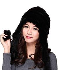 Crystallly Cappello di Pelliccia Beanie da Sciarpa Donna Cappello Sciarpa  in Stile Semplice Maglia Sciarpa di 1509d8ed0ffa