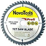 NOVOTOOLS TCT Lame de scie circulaire à bois 165 x 20 mm x 48 dents pour scies Festool, Bosch, Makita, DeWalt etc.