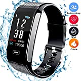 beaulyn Fitness Trackers with 7 Sport Mode Pedometer Heart Rate Blood Pressure Monitor