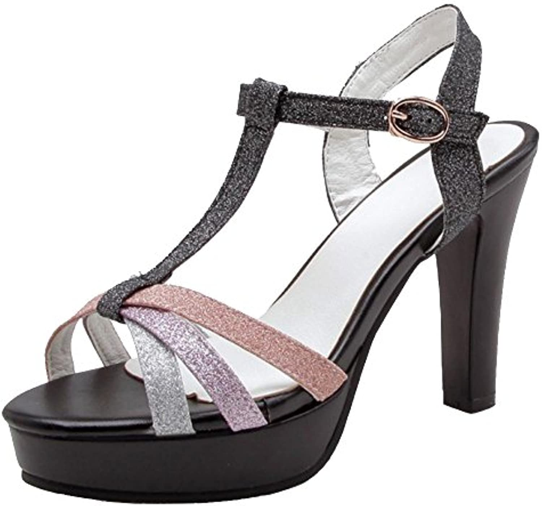 COOLCEPT Damen Mode High Heel Sandalen 2018 Letztes Modell  Mode Schuhe Billig Online-Verkauf