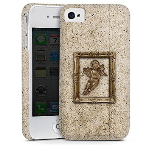 Apple iPhone 4 Housse Étui Silicone Coque Protection Ange Canne Tableau Cas Premium mat