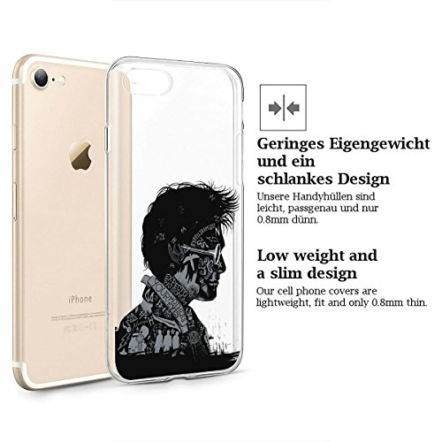finoo | iPhone 7 Weiche flexible lizensierte Silikon-Handy-Hülle | Transparente TPU Cover Schale mit Harry Potter Motiv | Tasche Case mit Ultra Slim Rundum-schutz | Harry Potter Portrait Harry Potter Portrait