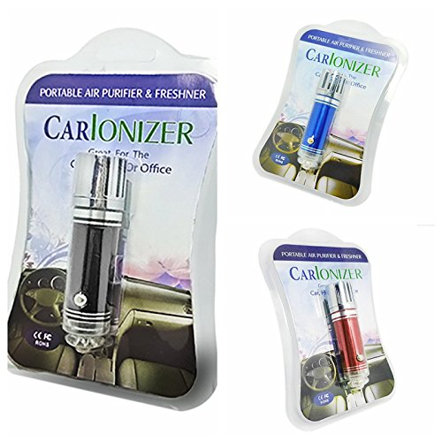 Car Air Purifier, Carlonizer Air Freshener Ionize Air Purifier - Professional Smoke Smell Dusts Remover, Helps with Allergies