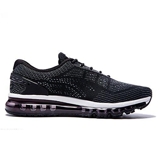 ONEMIX Laufschuhe Herren Straßenlaufschuhe Air mit Luftpolster Sportschuhe Black