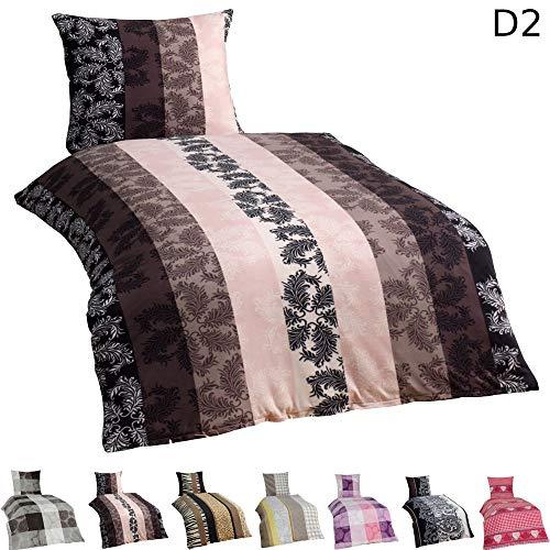 Dreamhome24 4 TLG Warme Microfaser Flausch Fleece Winter Bettwäsche 135×200 + 80×80 Winterbettwäsche Kissenbezug + GRATIS MF Putztuch