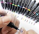 TININNA Penne per Nail Art Design Unghie fai da te Pen 3D Painted 16 colori(#1)1pz