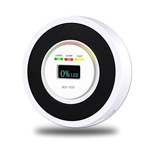 Foto de Detector de fuga de gas natural combustible doméstico Pantalla digital Tester Rastreador anti-plagas con alarma de sonido y luz