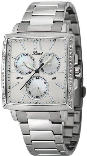 Bossart Watch Co. Square-Glam BW-1101-MOP-BRC Armbanduhr für Sie Mit Kristallsteinen
