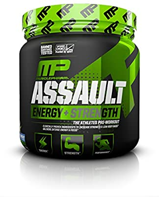 MusclePharm Assault Sport Blue Raspberry Pre-Workout Supplement from MusclePharm