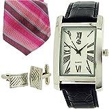 """Time, Orologio da uomo """", con numeri romani, Tie & TDX5486G38-Set regalo"""