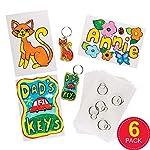 Super Shrink Keyring Pack of 6)