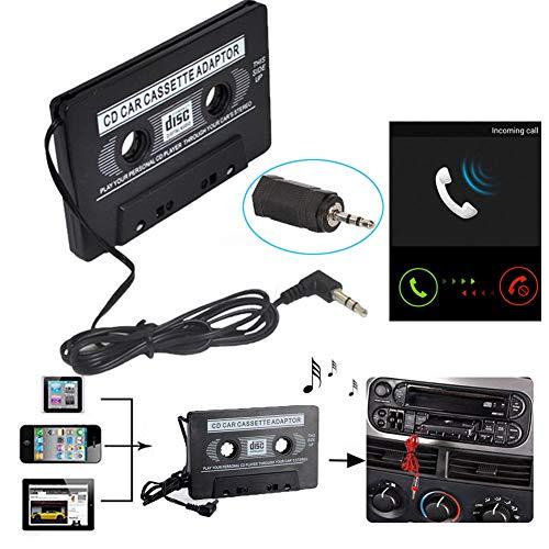 Dandeliondeme Kfz-Audio-Kassette auf Klinke, AUX-Konverter, Adapter für iPod Samsung S9 LG G5 Moto iPhone XS XR Huawei BlackBerry Tablet (Blackberry-media-karte)