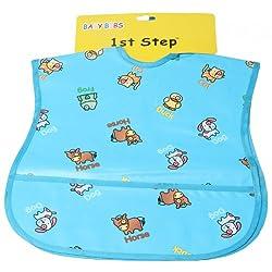 1st Step Baby PVC Bib Set 2 Pcs - Blue, 0M+