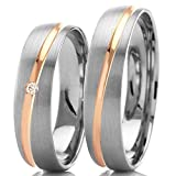 Eheringe 585 Weißgold Rotgold 8345-50 - Happy Love Kollektion GT15