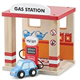New Classic Toys Holzspielzeug Tankstelle