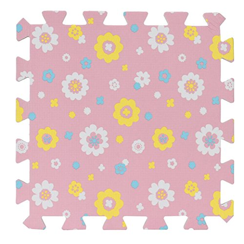 Rumas Wohnzimmer Schlafzimmer Kinder Soft Flickenteppich Splice Baby Matte 30x 30cm, rose, 30x30CM