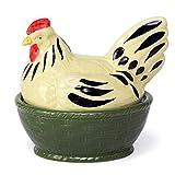 Zeller cerámica huevos lata gallo y gallina