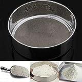 OUNONA Küche feines Mesh Mehlsieb Edelstahl Silber Netz Mehl Sieb Sieben BZW. passieren Sieb Kuchen Backen Puderzucker Filter Mesh