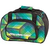 Nitro Sporttasche Duffle Bag XS, Schulsporttasche, Reisetasche, Weekender, Fitnesstasche,  40 x 23 x 23 cm, 35 L, 1131-878019_ Geo Green