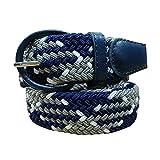 KINDOYO Elastica Cintura uomo cinghia intrecciata pelle flessibile quotidiano Cintura