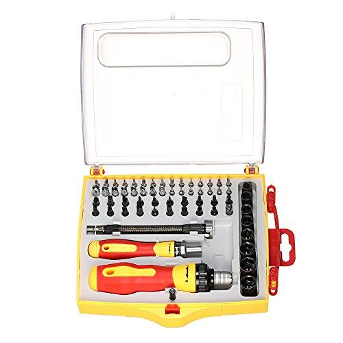 KDLBO Schraubendreher 62 Multifunktions-Schraubendreher-Steckschlüsselsatz Mit Sechskantpflaumen-ReparatursatzA