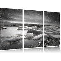 Ice Extreme paesaggio carbone effetto disegno 3 pezzi picture tela 120x80 immagine sulla tela, XXL enormi immagini completamente Pagina con la barella, stampe d'arte sul murale cornice gänstiger come la pittura o un dipinto ad olio, non un manifesto o un banner,