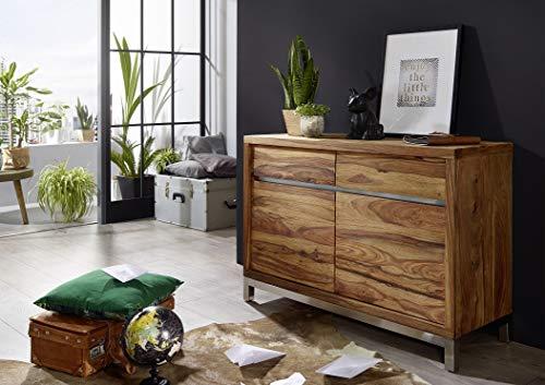 Main Möbel Sideboard 120cm Orlando Sheesham & Edelstahl