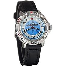 Vostok KOMANDIRSKIE 2414811879azul marino militar ruso reloj mecánico