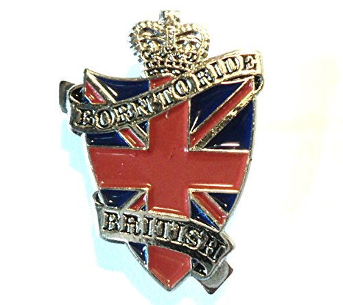 Born to Ride British Bikes Biker Union Flagge Metall Motorrad Emaille Badge