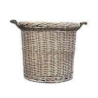 Round Large Bronze Wicker Log Basket/Storage Trunk/Toy Box/Ideal Christmas Gift