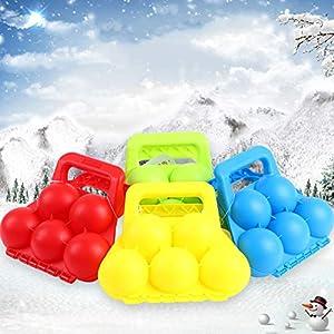 CoURTerzsl Schneeball-Clip, Winter 5 Schneebälle Maker Outdoor Sport Sand Tonform Scoop Clip Kinder Spielzeug