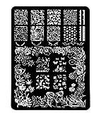 Hangaga DIY-Bildstempel Bord Maniküre Modell Nagel Werkzeug Nagel Stempel