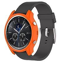 Tuff-Luv Silicone Wrist Watch Strap Band for Samsung Gear S3 Classic Smartwatch - Orange