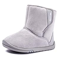 BMCiTYBM Girls Boys Snow Boots Warm Winter Fur Lined Baby Shoes (Infant/Toddler/Little Kid) Size: 9 Toddler