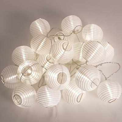 Plaights LED-Sommerlichterkette, Dekorations-/Stimmungsleuchten, 20 LED-Lampignons, weiß von Light bei Lampenhans.de