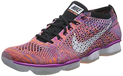 super popular e3cae 8e639 ... Nike Women s Flyknit Zoom Agility Training Sneakers (6, Hyper Violet  White-Black)