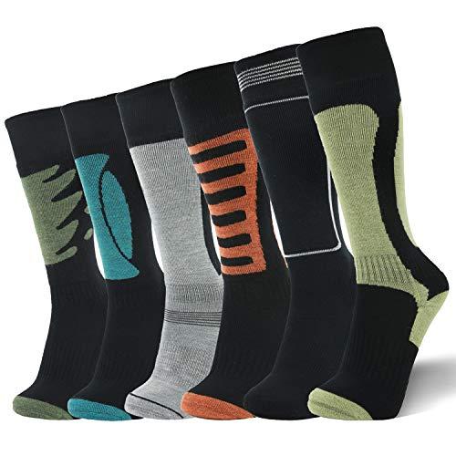 Smartwool Winter Stiefel (Lin 6 Paar Premium weiche Wintersocken aus 67% Merinowolle für Wandern, Trekking, Damen und Herren, Damen, gemischt, M(9-11))