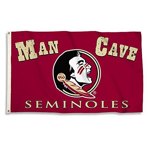 BSI NCAA 3'x 5' Man Cave Flagge mit Tüllen, Unisex, weiß, Einheitsgröße