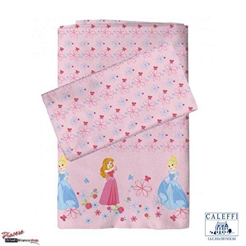 Completo lenzuola lettino bambina Principesse Disney -Caleffi