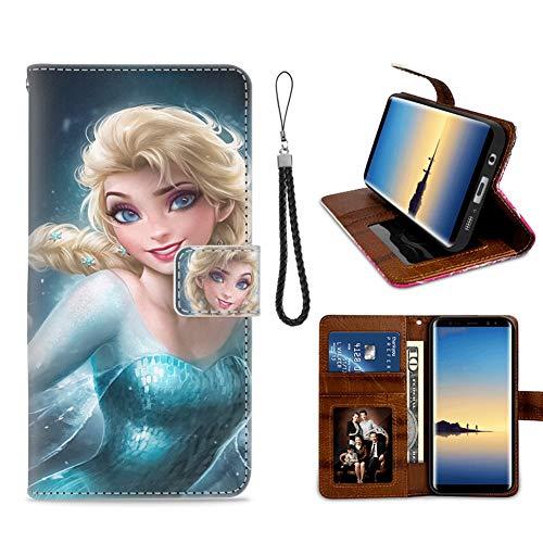Disney Collection Étui Portefeuille en Similicuir pour Samsung Galaxy Note 8 Motif Pois colorés Sexy Elsa