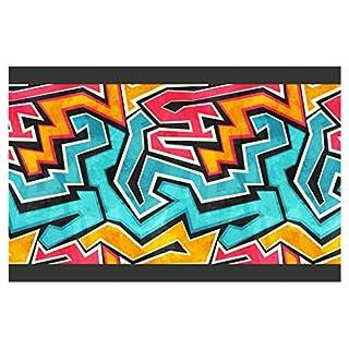 I-love-Wandtattoo Kinderzimmer Bordüre Borte Graffiti Junge Mädchen Wanddeko Wandaufkleber
