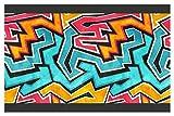I-love-Wandtattoo Bordo Autoadesivo Graffiti la Camera dei bambinistripes Carta da Parati decoraz