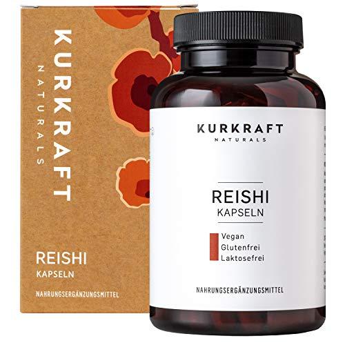 Kurkraft® Reishi Extrakt (120 Kapseln) - 35% bioaktive Polysaccharide - LABORGEPRÜFT - 500mg je Kapsel - Vegan - ohne Zusatzstoffe - Sorgfältig hergestellt in Deutschland