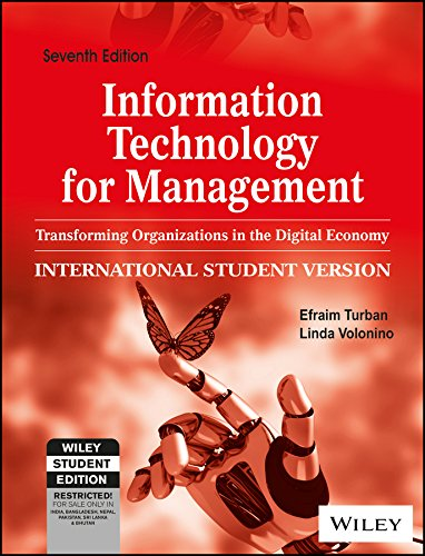 Information Technology for Management: Transforming Organizations in the Digital Economy, 7ed