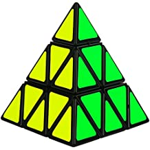 GENORTH® Cubo MágicoTriángulo Pirámide Pyraminx Velocidad Puzzle Twist Juguete juego educación para los niños (Triángulo,Negro)