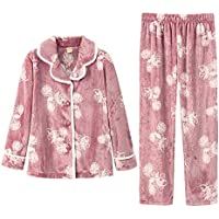 53f45c30c DUKUNKUN Pijamas Acolchados para Mujer Chaqueta De Manga Larga Traje Dulce  Informal Elegante