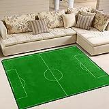 LUPINZ Alfombra de fútbol Lupinez de 160 x 122 cm, 1, 63 x 48 Inch
